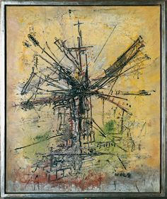The Windmill Artist: Wols Completion Date: 1951 Style: Art Informel Genre: figurative painting