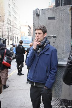 Male Models smoking before Marc by Marc Jacobs