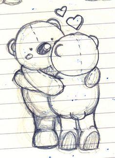 Bear Hug (sketch) by Wedgienet.net - Illustration / Design, via Flickr