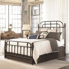 Thomasville® Reinventions King Pullman Metal Headboard and Foodboard Bed - Sprintz Furniture - Headboard & Footboard Nashville, Franklin, Brentwood and greater Tennessee