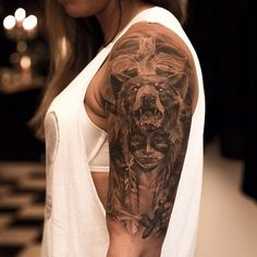 ca14bac9e 98 Sexy Shoulder Tattoo Designs for Mens and Womans ⋆ TattoozZa. Tattoomaze  · Indian Bear ...