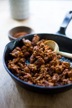 Easy Turkey Chorizo - make this in 15 minutes and use in tacos, burritos, eggs, whatever suits your fancy!