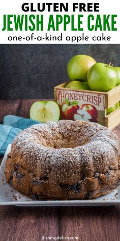 Gluten Free Apple Cake Serve up this Jewish Gluten Free Apple Cake. This apple cake is dense and will melt in your mouth. It has fresh bits that are incredible. A must make cake recipe is a great apple recipe. Gluten Free Apple Cake, Healthy Apple Cake, Best Gluten Free Desserts, Fresh Apple Cake, Apple Cake Recipes, Gluten Free Treats, Gluten Free Cakes, Foods With Gluten, Easy Cake Recipes