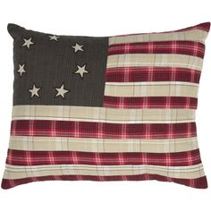 Liberty Stars Flag Pillow