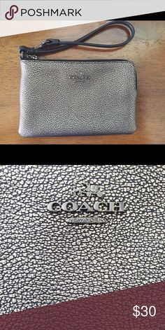 """Coach Wristlet Coach Wristlet!! Super cute and perrrfect for daily use. The textured material and precious pattern exemplify the quality. And to top that-- it's barely used! A great neutral to add to any cute outfit! About 5"""" wide and 3.5"""" tall. Coach Bags Clutches & Wristlets"""