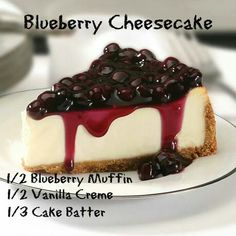 """.""""Blueberry Cheesecake"""" 1/3 Blueberry Muffin, 1/3 Vanilla Creme, 1/3 Cake Batter **Pay no attention to the measurements on the image -- someone didn't understand math! ;) www.pinkzebrahome.com/KatieSprinkles #PinkZebra #Sprinkles #Recipes"""