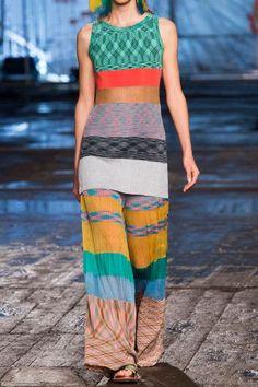 Missoni | Pleated striped crochet-knit wide-leg pants | NET-A-PORTER.COM