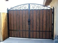 Axis Metal Design can design and fabricate custom gates and doors for your home or business. Each gate and door is fully designed to customers needs … Wrought Iron Driveway Gates, Wood Fence Gates, Fence Gate Design, Metal Garden Gates, Front Gate Design, Wooden Gates, Garden Doors, Fences, Wooden Gate Designs