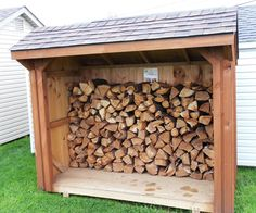 Nice enclosure for firewood - like the roof especially.