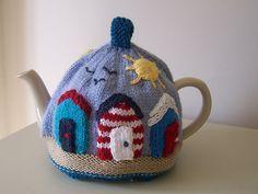 Sunny Seaside Tea Cosy Knitting pattern by Buzybee Tea Cosy Knitting Pattern, Tea Cosy Pattern, Knitting Patterns Free, Crochet Patterns, Scarf Patterns, Free Knitting, Knitting Projects, Crochet Projects, Knitting Tutorials
