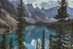 Moraine Lake in Alberta. Photograph by Angela A. Stanton. #Moraine #MoraineLake #Alberta #Canada