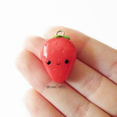 #kawaii #charms #polymer #clay #strawberry #charm