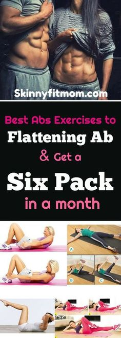 Best Abs Exercises To Get Six Pack - I started this ab workout and started seeing results in only 2 weeks. It's a challenging and effective way to tone abs fast!