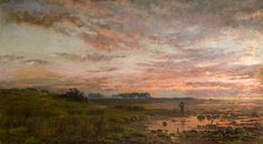 George Wright -Sunset on the Solway,1888