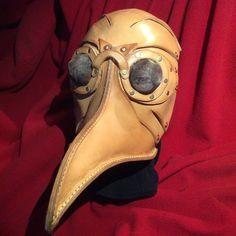 Leather Plague Mask. Steam Punk Plague Mask. by TimsSatchels