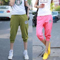 898b738df8d 2016 New Summer Women Casual Harem Pants Female Sports Women s Skinny Sport  Pants Long Seven Short Capris Trousers