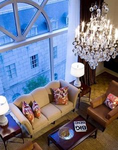 """There's a """"home away from home"""" feel staying in the Presidential Suite at the Rosewood Crescent Hotel, Dallas, Texas."""