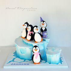 Penguins on an iceburg