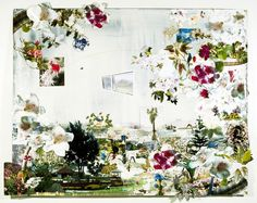 Melanie Carvalho - Rhodroponicum, mixed media on paper, 152cm x 122cm, 2005. New Art Gallery Walsall collection