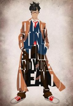 Doctor Who Inspired Tenth Doctor's Typographic Artwork Canvas Print / Canvas Art - Artist Ayse Toran