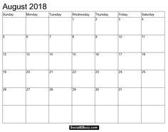 august 2018 calendar page