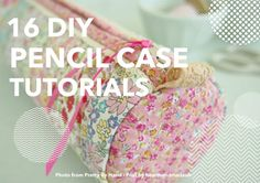 16  Awesome DIY Pencil Case Tutorials Back to school is much more fun when you don't actually attend school anymore. After yesterday's post of a lovely Cath Kidston pencil case tutorial I thought I would share an extra 15 for you all to try/choose from.     How beautiful is this case by Kristyne …