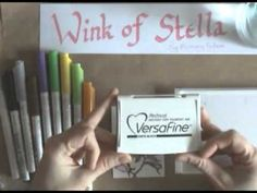 Wink of Stella Pens Card Making Tips, Card Making Tutorials, Alcohol Markers, Copic Markers, Craft Paper Storage, Wink Of Stella, Copics, Ink Pads, Card Tags