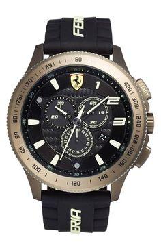 Scuderia+Ferrari+'Scuderia+XX'+Chronograph+Silicone+Strap+Watch,+48mm+available+at+#Nordstrom