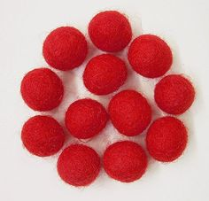 Amazon.com: Felted Wool Beads- Package of Twelve 1/2 Inch Diameter Red: Arts, Crafts & Sewing