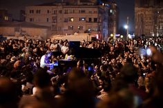 """""""The Peace Pianist,"""" Davide Martello playing in Taksim Square - Arun Gandhi Human Soul, November 2013, Busy Life, Gandhi, Outdoor Spaces, In This World, Plays, Reflection, Believe"""