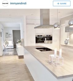 38 The Best Modern Scandinavian Kitchen Inspirations - Popy Home Nordic Kitchen, Scandinavian Kitchen, Kitchen Living, New Kitchen, Kitchen Ideas, Kitchen Modern, Kitchen Inspiration, Scandinavian Modern, Kitchen Decor