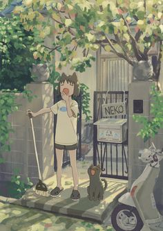Art that showcases aspects of people's lives in realistic or fantastical settings -- Often seeking to glorify the mundane (though not limited to),. Arte Do Kawaii, Kawaii Art, Cute Cartoon Wallpapers, Animes Wallpapers, Art And Illustration, Pretty Art, Cute Art, Aesthetic Art, Aesthetic Anime