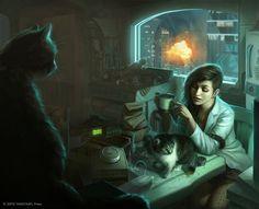 cyberpunk has kitties too