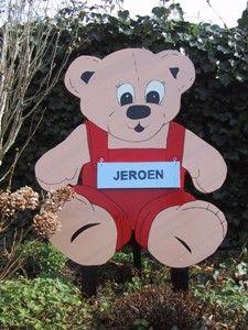 beer geboortebord met naambordje