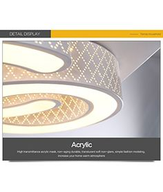 Epic Style home LED Wandleuchte Deckenleuchte dimmbar Fernbedienung W Amazon