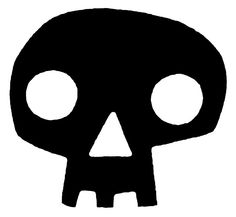 There is a little cartoonish fun in this depiction of a symbol of death.