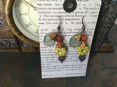 Hand Crafted Fun N Funky Beaded Earrings in by TheJeweledCottage