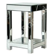 VENETIAN MIRRORED END TABLE