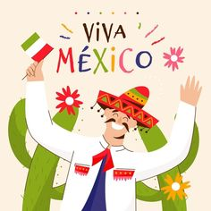Mexican Drinks, Mexican Hat, Flyer Design, Icon Design, Mexican Independence Day, Mexican Celebrations, Poncho Design, Mexican Wrestler, Flag Garland
