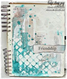 Art Journaling with Lindy's stamp Gang
