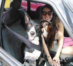 Malu Abib e Frida Maria Abib Kern. Rolêzinho. Com cinto de segurança. Aeee! São Roque, SP.