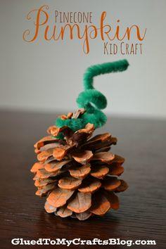 Pinecone Pumpkin {Kid Craft}