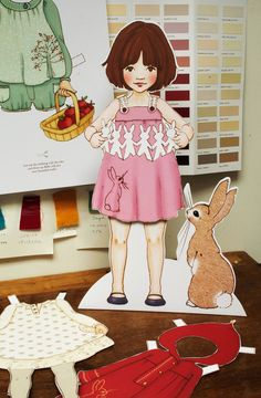 """Originally used in UK shops and trade shows for clothing line.  Available in 15'' or 8"""".  Cutie pie.  belle and boo"""