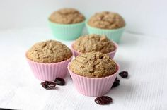These easy oatmeal muffins are made extra delicious with a dose of cherry yogurt! Look amazing!