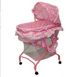 Dream On Me Layla 2 In 1 Bassinet To Cradle, Pink