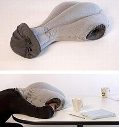 Office the Nap Pillow http://www.lovedesigncreate.com/ostrich-pillow-office-the-nap-pillow-car-pillow-everywhere-nod-off-to-sleep/