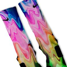 Liquid Rainbow Customized Nike Elite Socks on www.FreshElites.com