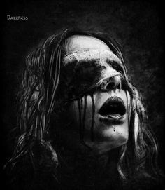 I was blinded by your beauty the moment you walked in the room. yeah baby you were pretty damn SHARP! Dark Art Photography, Horror Photography, Dark Gothic, Gothic Art, Creepy Art, Scary, Dark Fantasy, Fantasy Art, Kopf Tattoo