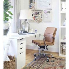 Who wouldn't be productive in this gorgeous home office space