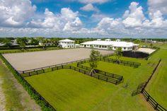 Sunset West Farm - a spectacular equestrian facility on Grand Prix Village Drive, Wellington, Florida